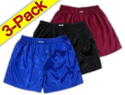 Blue Black Burgundy Thai Silk Boxer Shorts Underwear Men Sleepwear 3 Pack