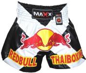 Maxx Blk/White Muay Thai Boxing, Kick Boxing Shorts, MMA Shorts, small- xlarge