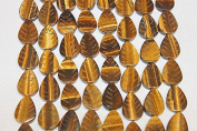 """Genuine Stone Beads - 15x20mm Carved Leaf - High Quality Beads - 15-16"""" Long Strands - About 18-20 Beads Per Strand"""