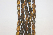 """Genuine Stone Beads - 10x16mm - Faceted Nugget - High Quality Beads - 15-16"""" Long Strand - About 23-25 Beads Per Strand"""