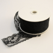 Black Lace Ribbon Floral Trim, 10 Yards, 5.1cm