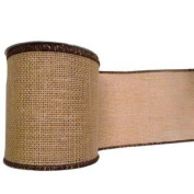 Vickerman 91440cm - 10cm x 10yd Natural Burlap Brown Edge Ribbon