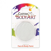 "Custom Body Art 18ml Face Paint Pearl ""Pearlescent"" Colour Single Colours 1-each (White Pearl) - Great for Parties, Halloween & Birthdays"