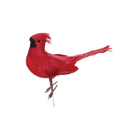 Christmas Decoration Christmas Floral Decoration Cardinal Bird Floral Pick with Wire - Red