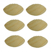 Football Cut Outs Unfinished Wood Mini Footballs Crafts 7.6cm Inch 6 Pieces FB001-06