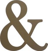 43cm Unfinished Wooden Ampersand ( & ) Letter