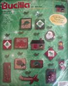 Santa's Lodge - Bucilla Christmas Felt Applique Ornaments Kit 84266