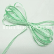 """Craft Decorated Ribbon Solid Satin Ribbon Double Faced 1/8""""(3mm) x 100YDS Mint - B4001MT"""