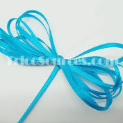 "Craft Decorated Ribbon Solid Satin Ribbon Double Faced 1/8""(3mm) x 100YDS Turquoise - B4001TQ"