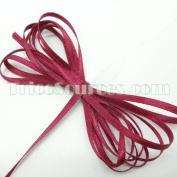 "Art Craft Ribbon Solid Satin Ribbon Double Faced 1/8""(3mm) x 100YDS Burgundy - B4001BU"