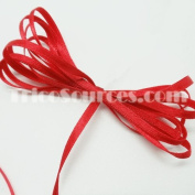 """Wedding Ribbon Solid Satin Ribbon Double Faced 1/8""""(3mm) x 100YDS Red - B4001RD"""