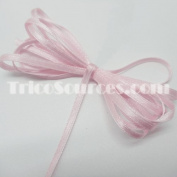 "Baby Shower Ribbon Solid Satin Ribbon Double Faced 1/8""(3mm) x 100YDS Pink - B4001PK"