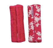 Babychic 100 Percent Cotton Strap/ Harness Covers Cherry Blossom