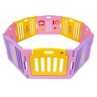 Baby Playpen Kids 8 Panel Safety Play Centre Yard Home Indoor Outdoor Pink Girls