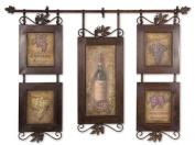 Purple Grey Brown Hanging Wine