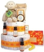 Unconditional Love 2-Tier Organic Deluxe Nappy Cake or Centrepiece -