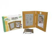 Baby Print Casting Kit - Air Dry No Mess Keepsake Kit with 10cm X 15cm Picture Frame - No Baking Required