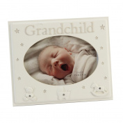 Beautifully Designed Grandchild Cream Resin Baby Photo Frame By Haysom Interiors