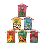 Set of 3 [Animal] Wooden Coin Bank for Kids Coin Box(2.7*2.3*11cm )Random Style