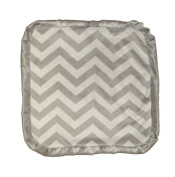 Caught Ya Lookin' Baby Thumb Blanket, Grey and White Chevron
