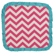 Caught Ya Lookin' Baby Thumb Blanket, Pink and White Chevron