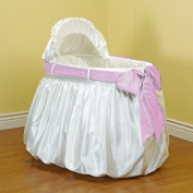 Baby Doll Shantung Bubble and Crushed Belt Bassinet Bedding, Pink
