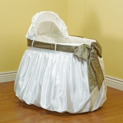 Baby Doll Shantung Bubble and Crushed Belt Bassinet Bedding, Sage