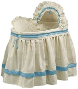 Baby Doll Baby King Brocade Bassinet Bedding Set, Blue