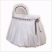 Baby Doll Pretty Ribbon Bassinet Bedding Set, Chocolate