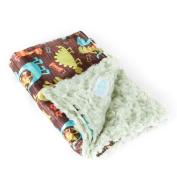 Allyzabba Dino Kiwi Large Baby Blanket 34″ X 28″