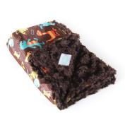 Allyzabba Dino Chocolate Large Baby Blanket 34″ X 28″