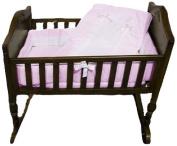 Baby Doll Royal Cradle Bedding Set, Pink