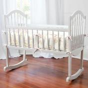 Shabby Chenille Cradle Bumper