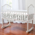 Pink and Grey Traditions Cradle Bumper
