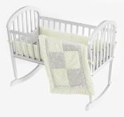 Baby Doll Bedding Croco Minky Cradle Bedding Set, Beige/Ivory