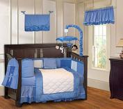 Minky Blue 10 Piece Boys Baby Crib Bedding Set