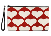 Snaptotes Red Heart Wristlet Clutch Purse