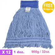 1doz. 900g950ml SunnyCare #22902 Blue Synthetic Cotton Loop-End Wet Mops 12/CS