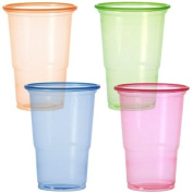 Party Dimensions 20 Count Neon Plastic Cups, 300ml, 4-Assorted Colours