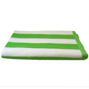 Cabana Striped Loop Terry Towel, Lime / White