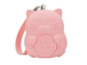 Meta-U Women's Cute Candy Colour Lucky Cat Silicone Key Coin Purse