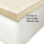 100% Natural Latex Mattress Topper 7.6cm Extra Firm