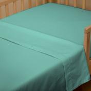 Solid Teal Toddler Sheet Top Flat