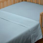 Solid Aqua Toddler Sheet Top Flat