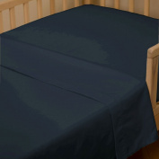 Solid Navy Toddler Sheet Top Flat