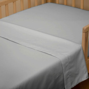 Solid Silver Grey Toddler Sheet Top Flat