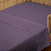 Solid Aubergine Purple Toddler Sheet Top Flat