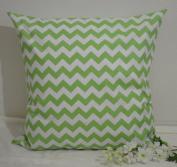 Creative Zig-Zag Chevron Cotton Reversible Pillow Covers, 70cm By 70cm - Green