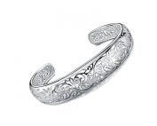 KATGI Fashion Sterling Silver Plated Retro Classic Flower Bracelet