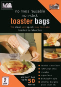 Toaster Bags, 2 Pack - Non-stick, No mess, Reusable up to 50 times